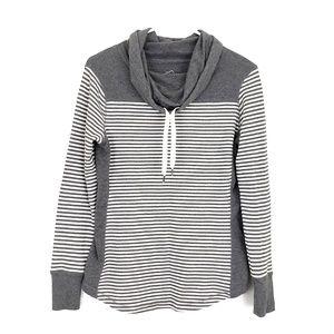 Eddie Bauer Cowl Neck Striped Sweater Medium